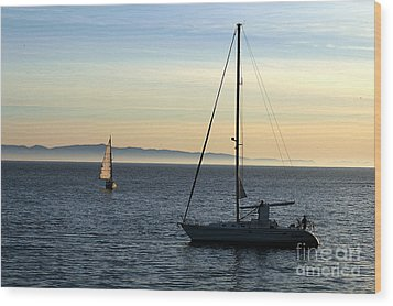 Peaceful Day In Santa Barbara Wood Print