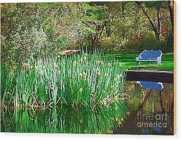 Wood Print featuring the photograph Peaceful by Donna Bentley