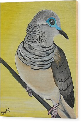 Peaceful Dove  Wood Print by Una  Miller