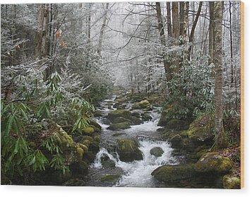 Peaceful Flow Wood Print by Andrei Shliakhau