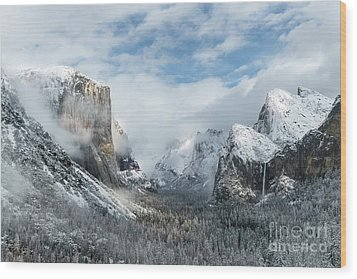 Wood Print featuring the photograph Peaceful Moments - Yosemite Valley by Sandra Bronstein