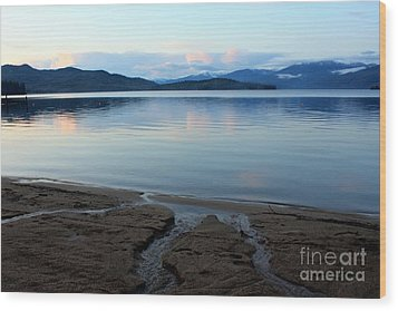 Peaceful Priest Lake Wood Print by Carol Groenen