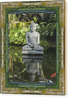 Peaceful Reflection Wood Print by Bell And Todd