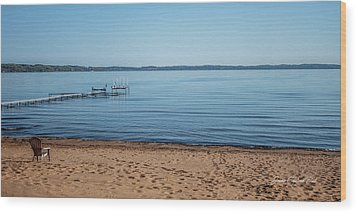 Wood Print featuring the photograph Grand Traverse Bay Beach-michigan  by Joann Copeland-Paul