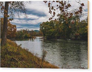 Peaceful River Wood Print