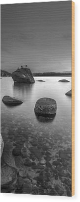 Peaceful Shores Wood Print by Brad Scott