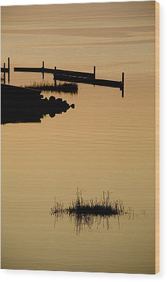 Peaceful Silhouettes Wood Print by Stephen St. John