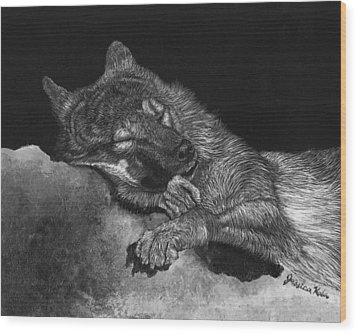 Peaceful Slumber Wood Print by Jessica Kale