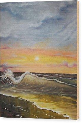 Peaceful Wave Wood Print by Scott Easom