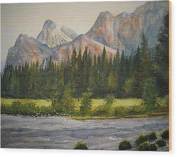 Peaceful Yosemite Wood Print by Shirley Braithwaite Hunt