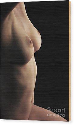 Peacefully Lit Wood Print by Robert WK Clark