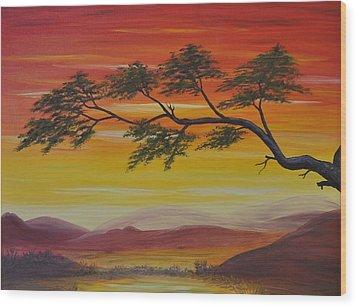 Peacefulness Wood Print by Georgeta  Blanaru