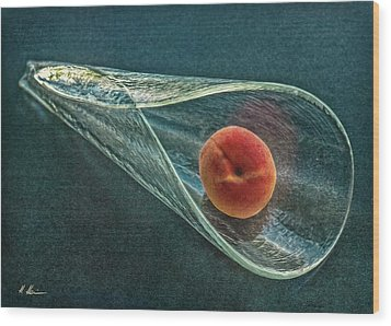 Wood Print featuring the photograph Peach Cone by Hanny Heim