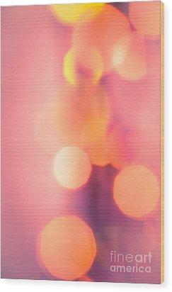 Peach Melba Wood Print by Jan Bickerton