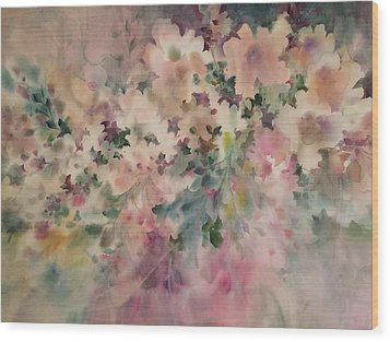 Peach Parfait Wood Print