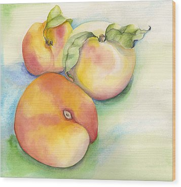 Peach Time Wood Print