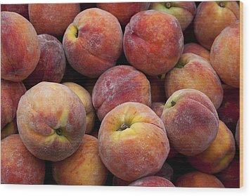 Peaches 3 Wood Print by Robert Ullmann