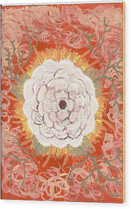 Peaches And Cream Wood Print by Laura Lillo