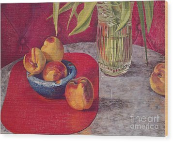 Peaches And Nectarines Wood Print by Kathryn Donatelli