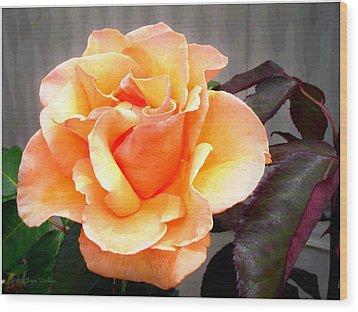 Peaches N' Cream Wood Print by Joyce Dickens