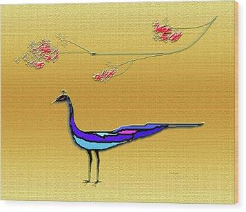 Peacock Wood Print by Asok Mukhopadhyay