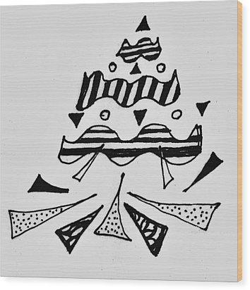Peak Wood Print
