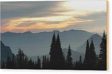 Wood Print featuring the photograph Peaks And Valley by Larry Keahey