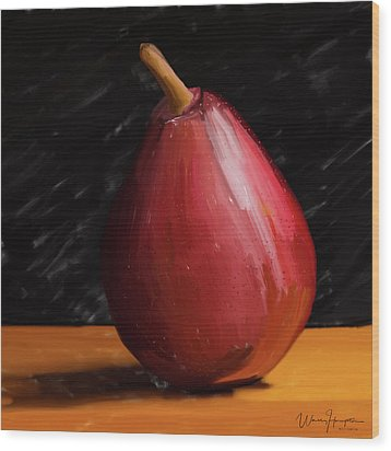 Pear 01 Wood Print by Wally Hampton