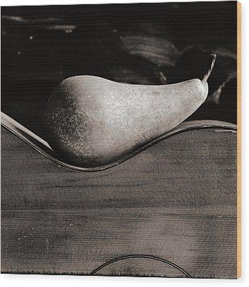 Pear #4745 Wood Print by Andrey Godyaykin