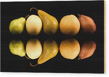 Pear Reflections Wood Print by Cabral Stock