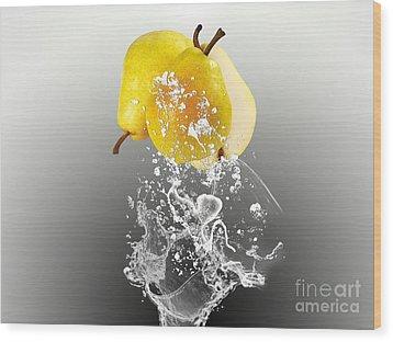 Pear Splash Collection Wood Print