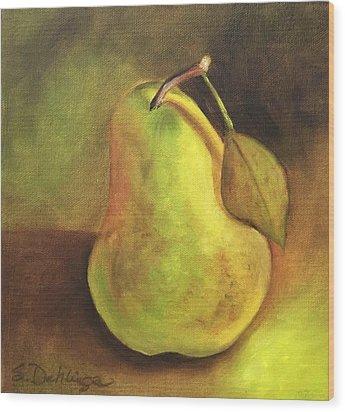 Pear Study  Wood Print by Susan Dehlinger