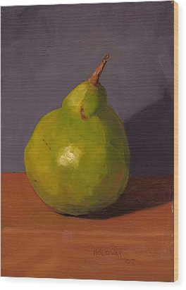 Pear With Gray Wood Print