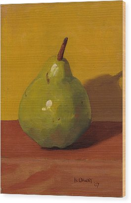 Pear With Yellow Wood Print