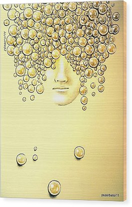Pearls Of Wisdom Wood Print by Paulo Zerbato