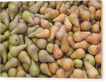 Pears At The Harvest Wood Print
