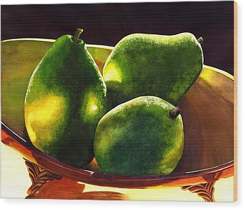 Pears No 2 Wood Print by Catherine G McElroy