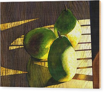 Pears No 3 Wood Print by Catherine G McElroy