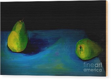 Pears Unpaired Wood Print