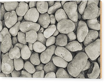 Wood Print featuring the photograph Pebbled Shoreline  by Stewart Scott