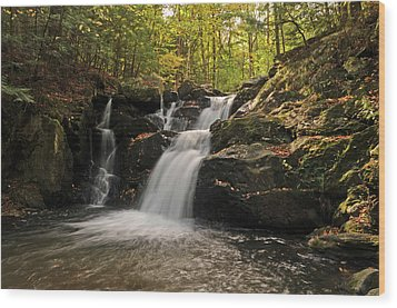 Wood Print featuring the photograph Pecks Falls by Mike Martin