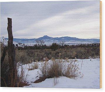 Pedernal Mountain Wood Print