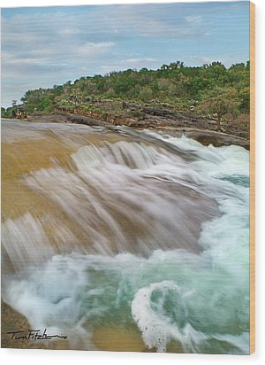 Pedernales Falls Wood Print