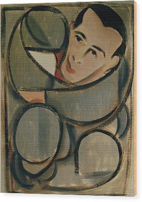 Pee Wee Herman Circular Art Print Wood Print