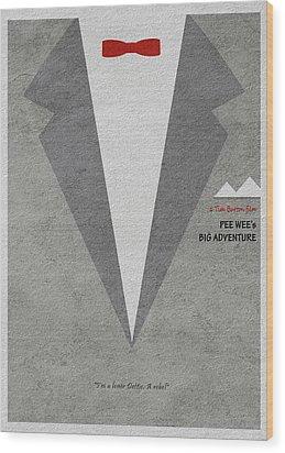 Wood Print featuring the digital art Pee-wee's Big Adventure by Ayse Deniz