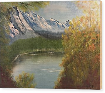 Peek-a-boo Mountain Wood Print