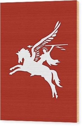 Pegasus In War Wood Print by Kristin Elmquist