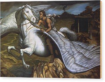Pegasus Wood Print by Jane Whiting Chrzanoska