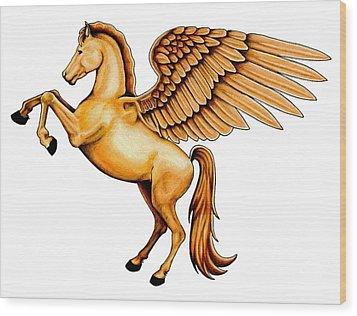 Pegasus Wood Print by Sheryl Unwin