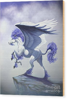 Pegasus Unchained Wood Print by Stanley Morrison